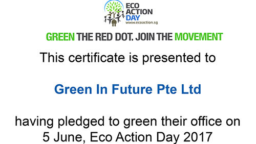 green in future plaedging Eco action Day 2017